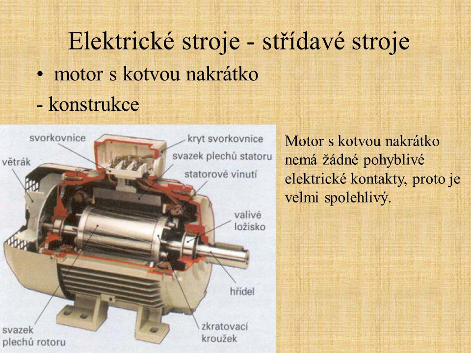 Elektrické stroje - střídavé stroje
