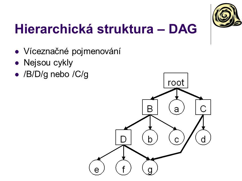 Hierarchická struktura – DAG