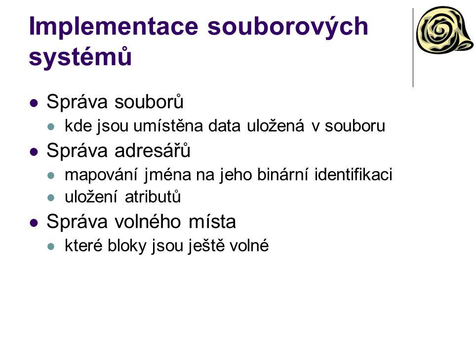 Implementace souborových systémů
