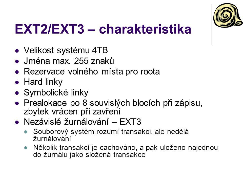 EXT2/EXT3 – charakteristika
