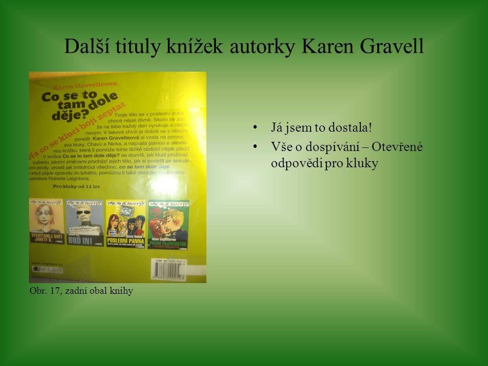Další tituly knížek autorky Karen Gravell