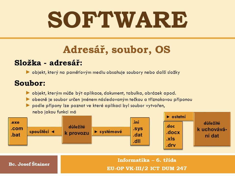 Informatika – 6. třída EU-OP VK-III/2 ICT DUM 247