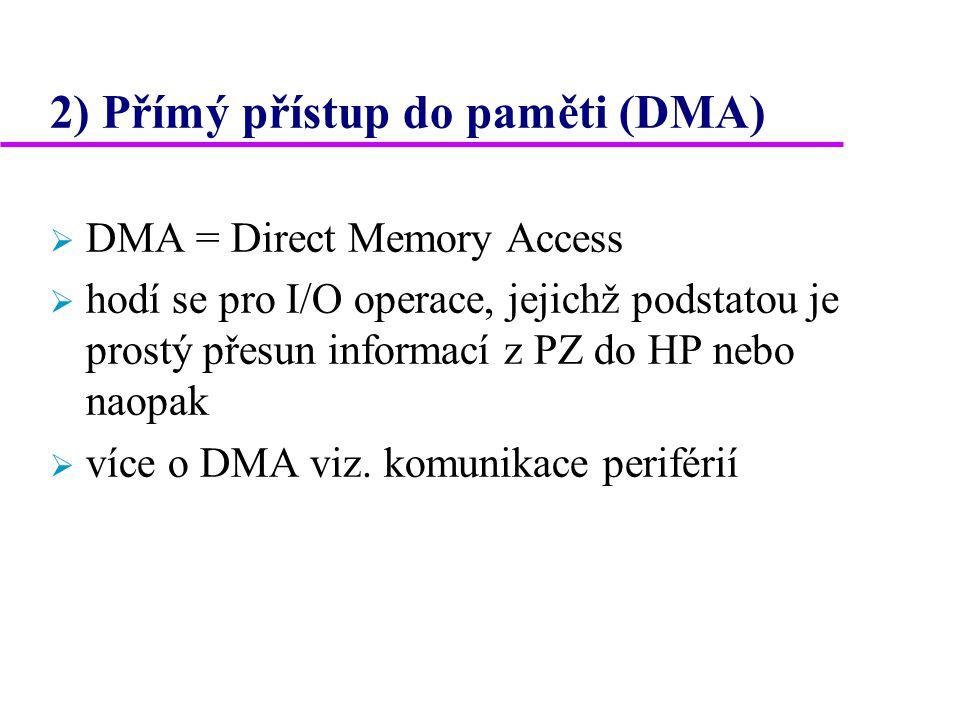 2) Přímý přístup do paměti (DMA)