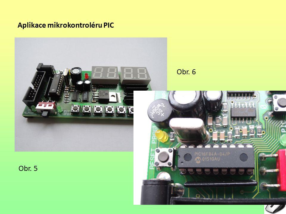 Aplikace mikrokontroléru PIC
