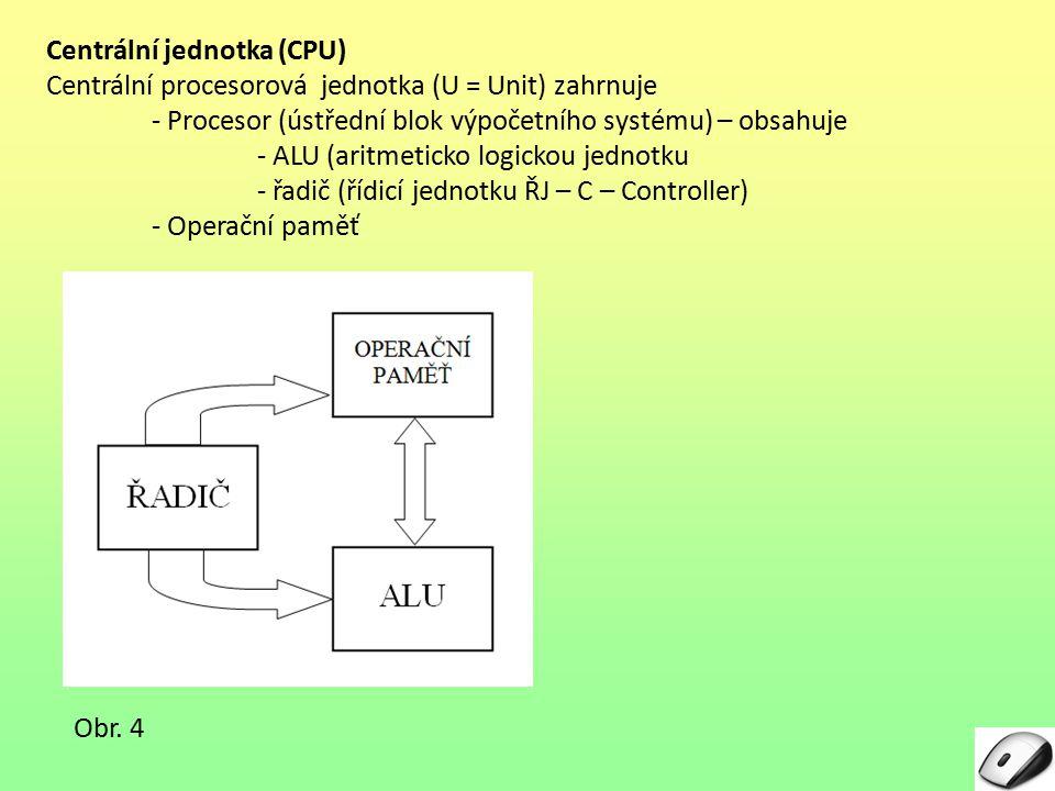 Centrální jednotka (CPU)