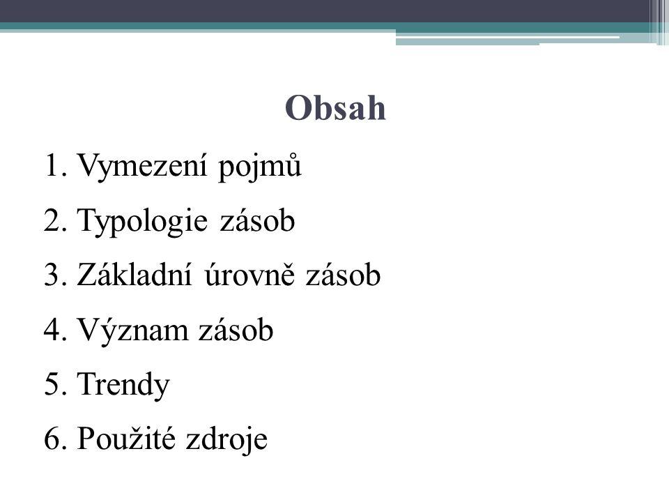 Obsah 1. Vymezení pojmů 2. Typologie zásob 3. Základní úrovně zásob