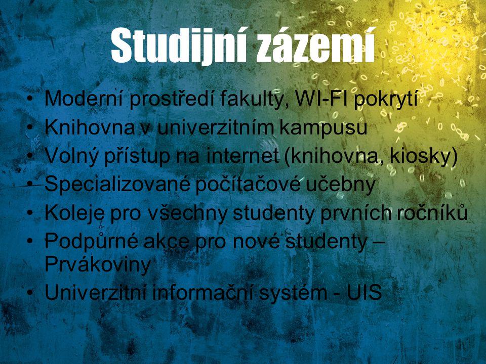 Studijní zázemí Moderní prostředí fakulty, WI-FI pokrytí
