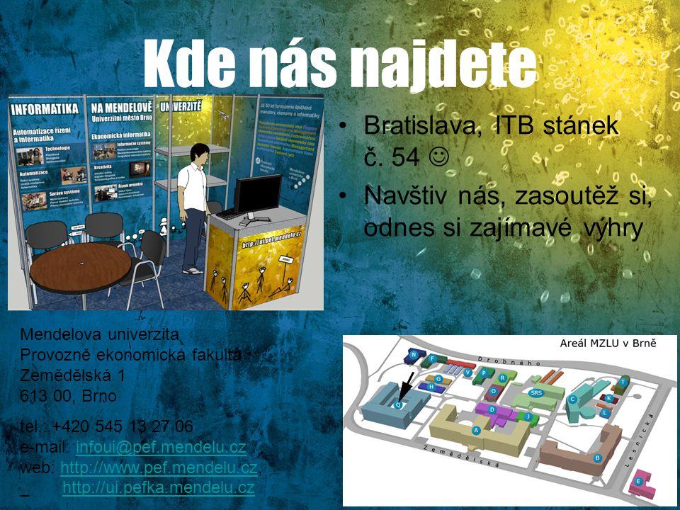 Kde nás najdete Bratislava, ITB stánek č. 54 