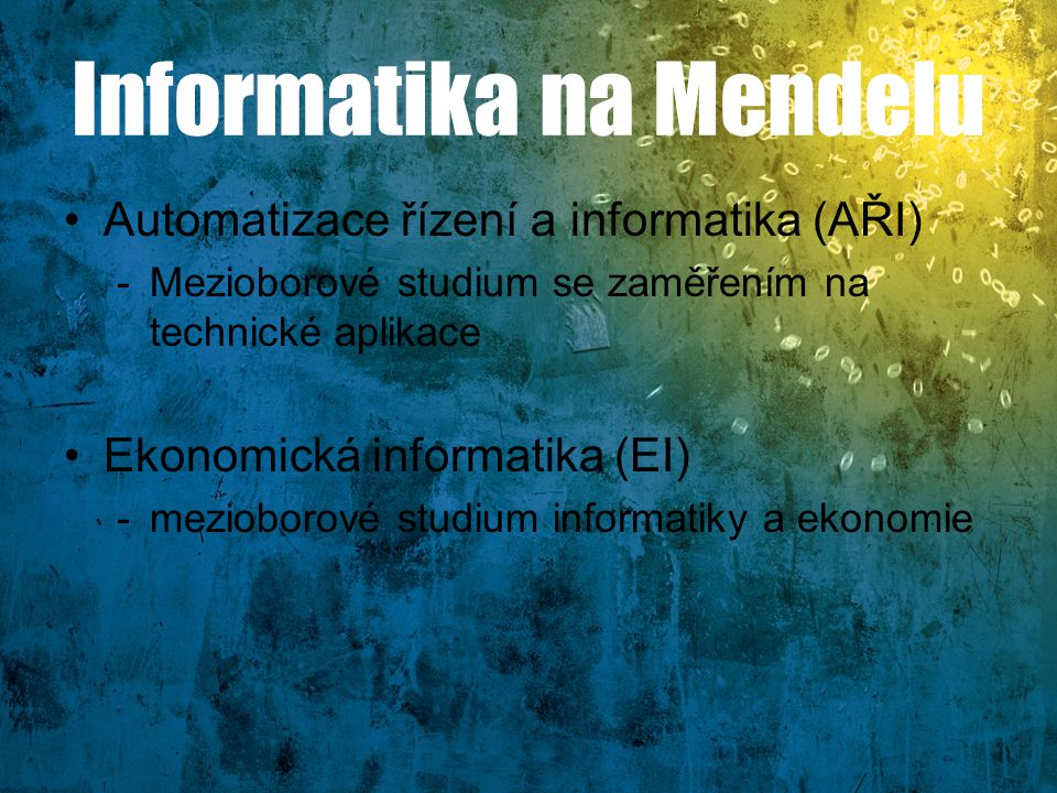 Informatika na Mendelu