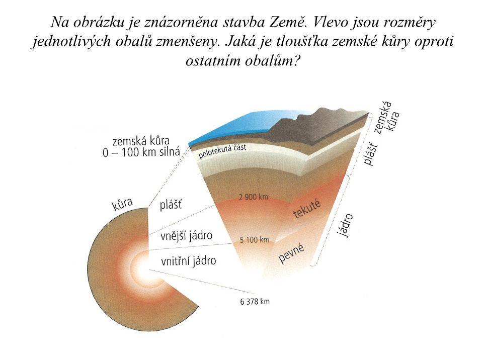 Na obrázku je znázorněna stavba Země