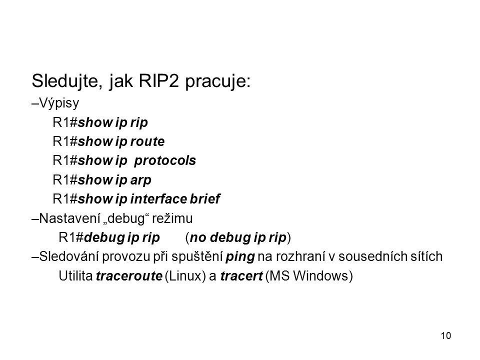 Sledujte, jak RIP2 pracuje: