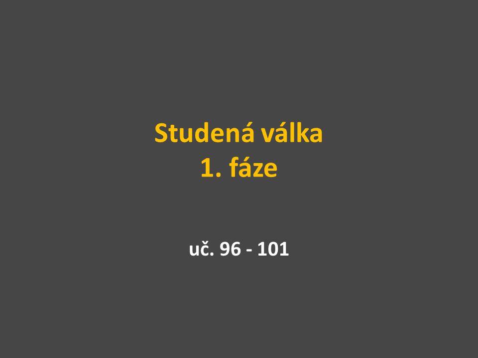 Studená válka 1. fáze uč. 96 - 101