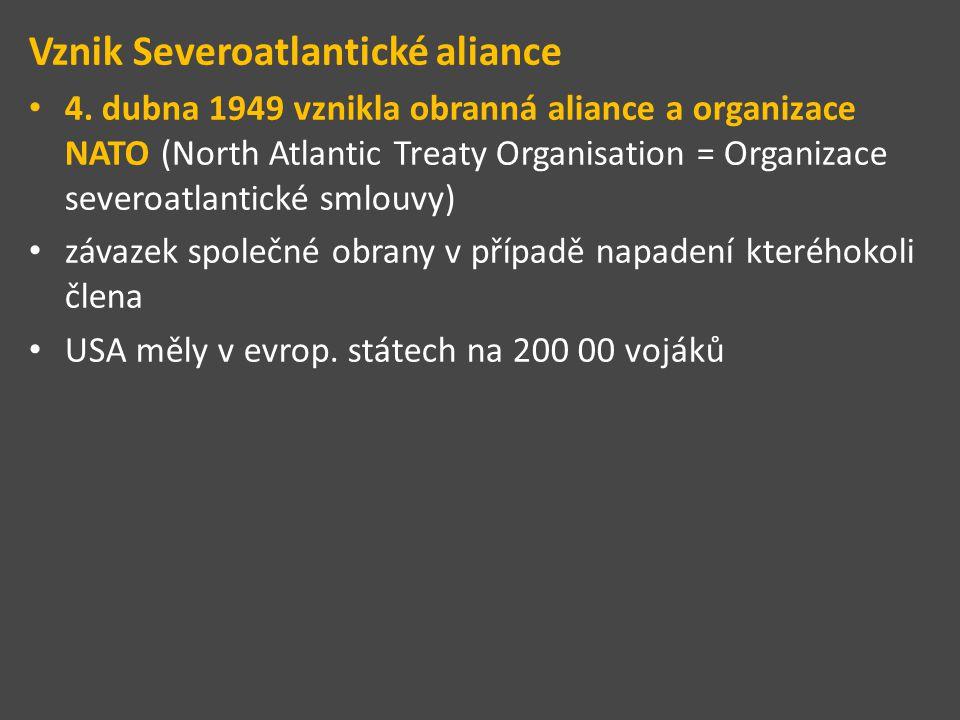 Vznik Severoatlantické aliance