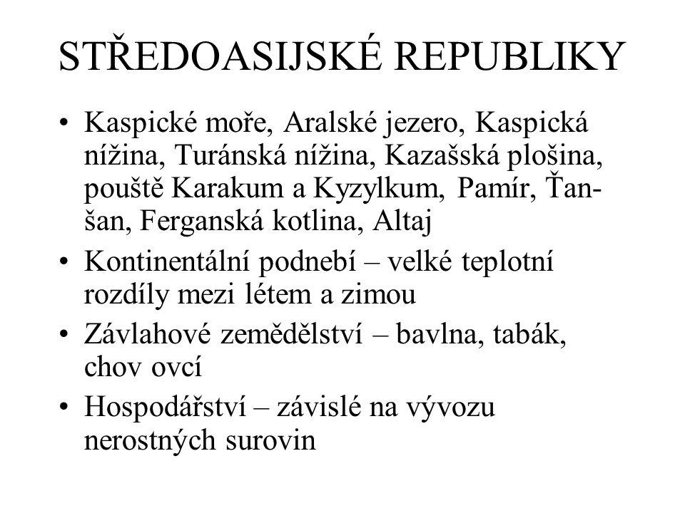 STŘEDOASIJSKÉ REPUBLIKY