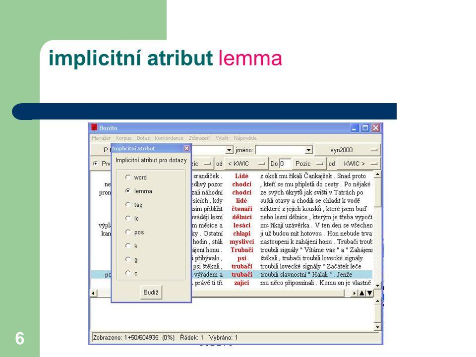 implicitní atribut lemma