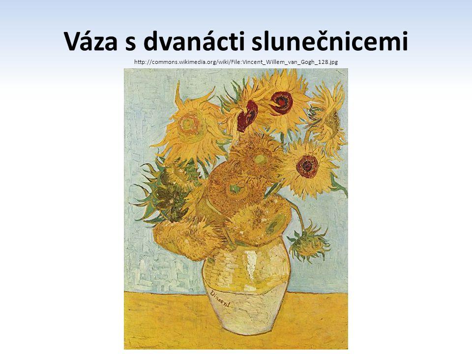 Váza s dvanácti slunečnicemi
