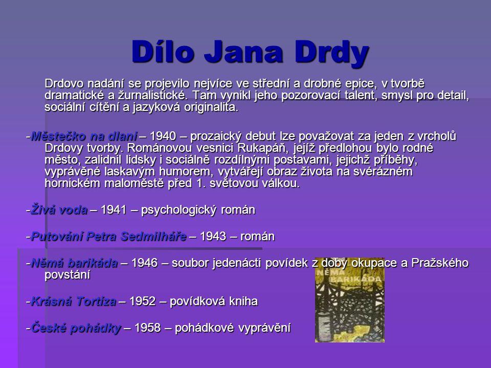 Dílo Jana Drdy