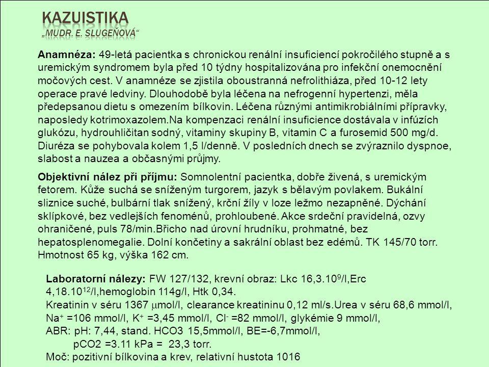 """Kazuistika """"MUDr. E. Slugeňová"""
