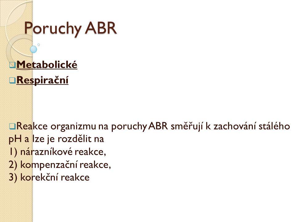 Poruchy ABR Metabolické Respirační