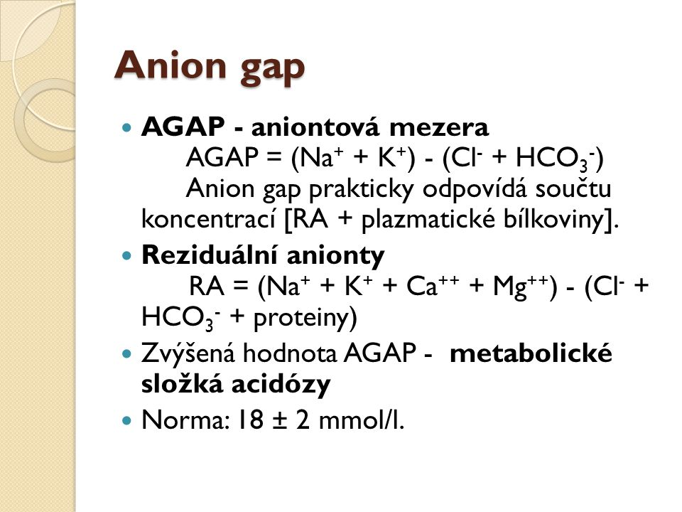Anion gap