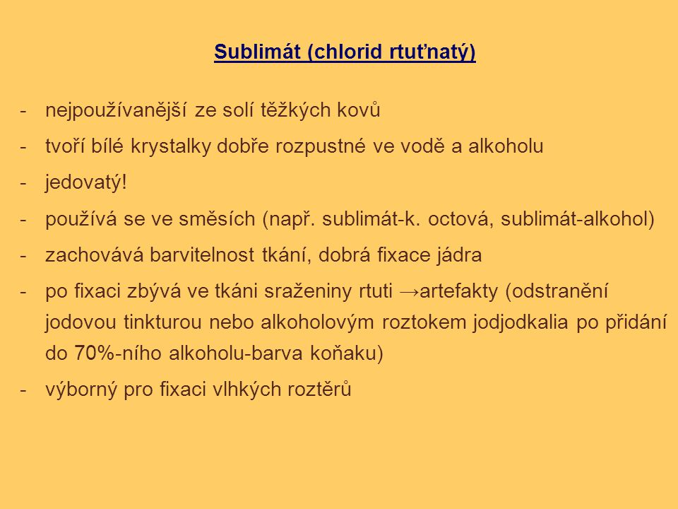 Sublimát (chlorid rtuťnatý)