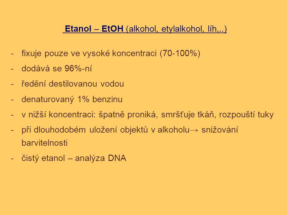 Etanol – EtOH (alkohol, etylalkohol, líh,..)
