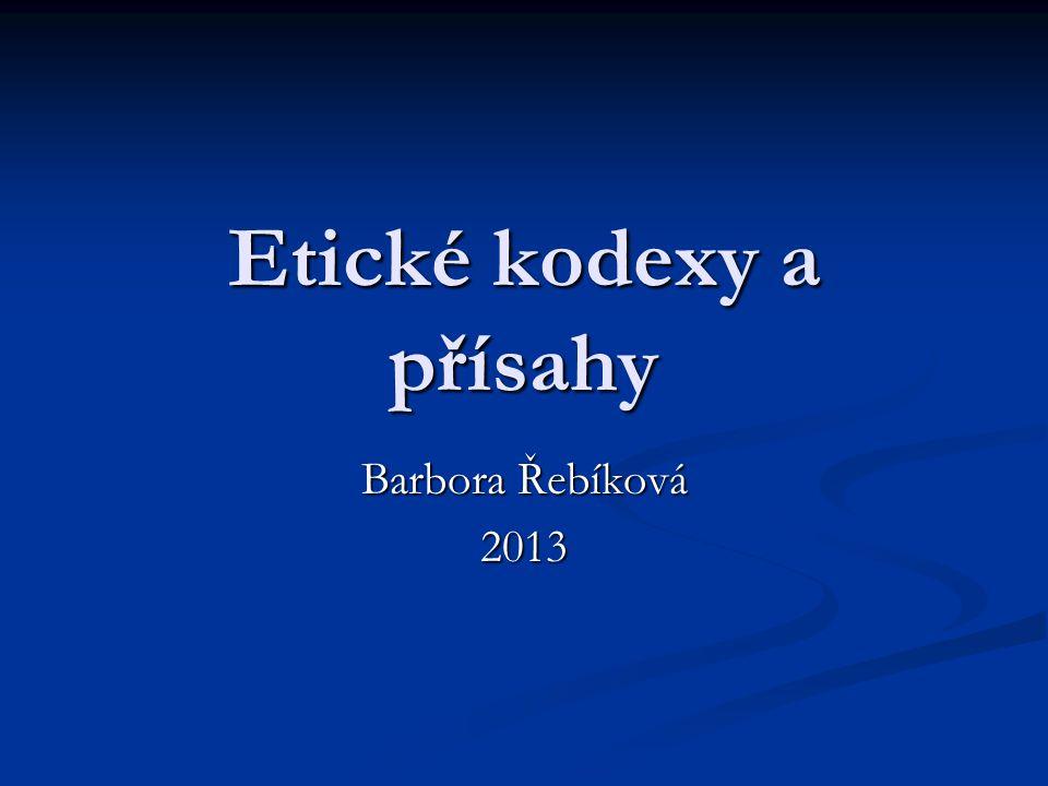 Etické kodexy a přísahy