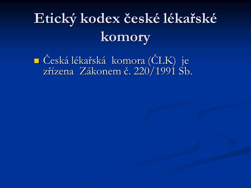 Etický kodex české lékařské komory