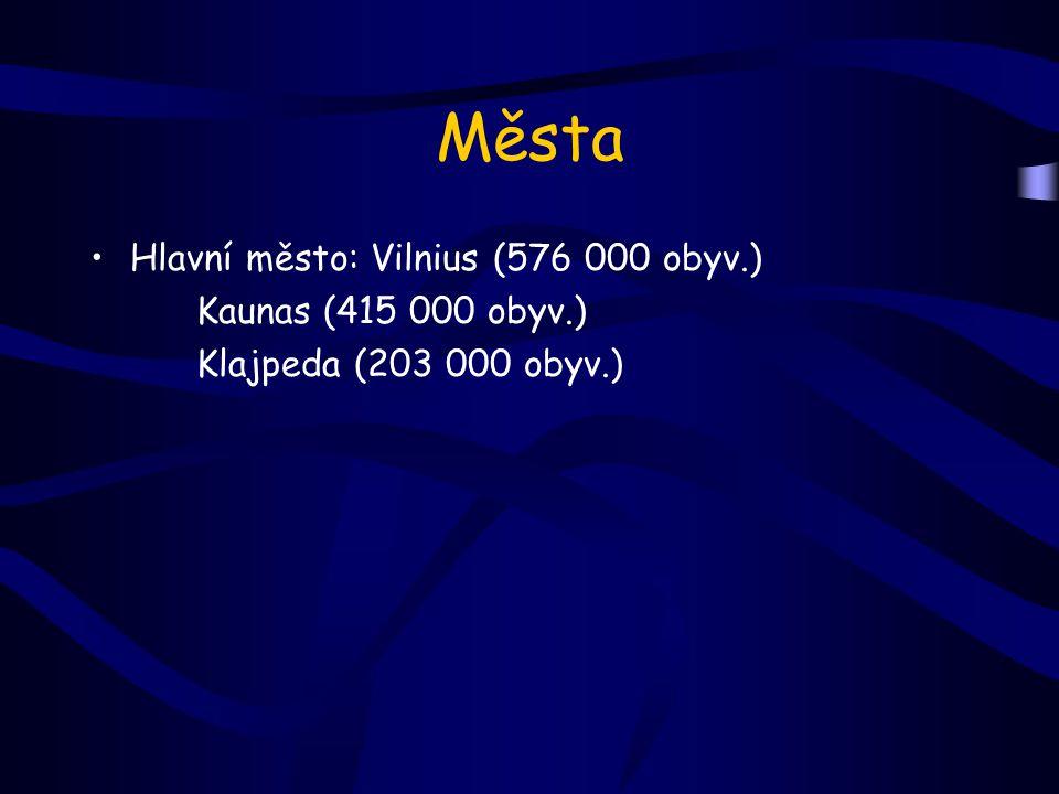Města Hlavní město: Vilnius (576 000 obyv.) Kaunas (415 000 obyv.)