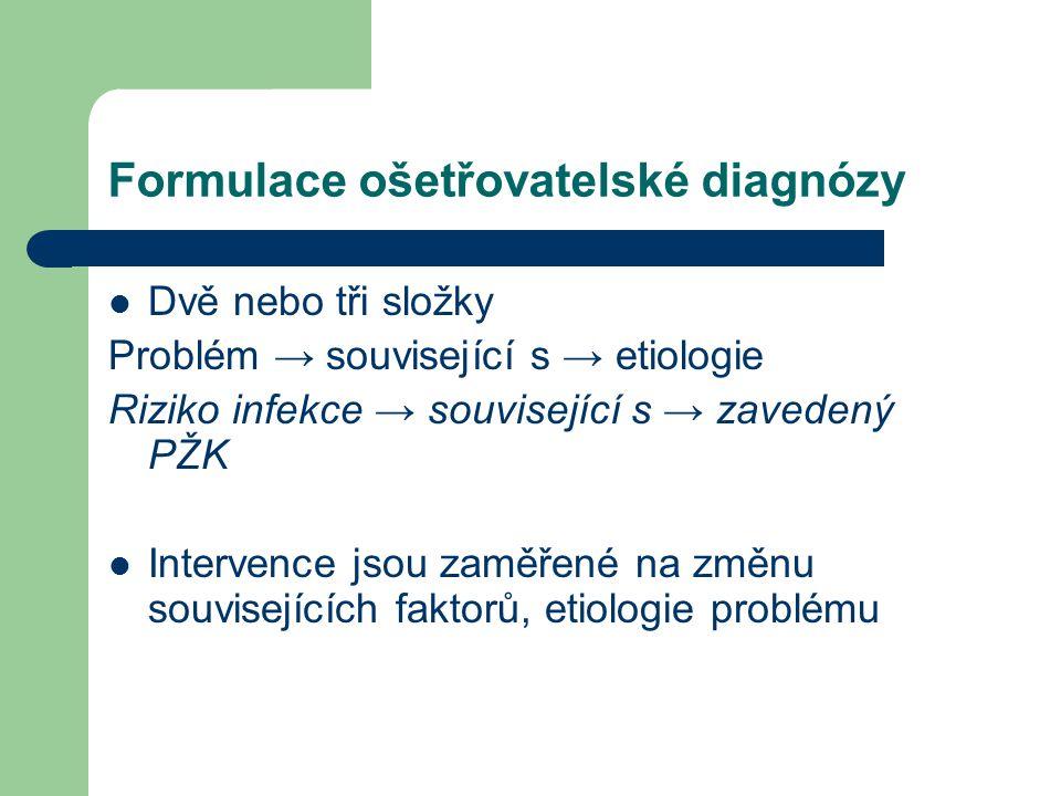 Formulace ošetřovatelské diagnózy