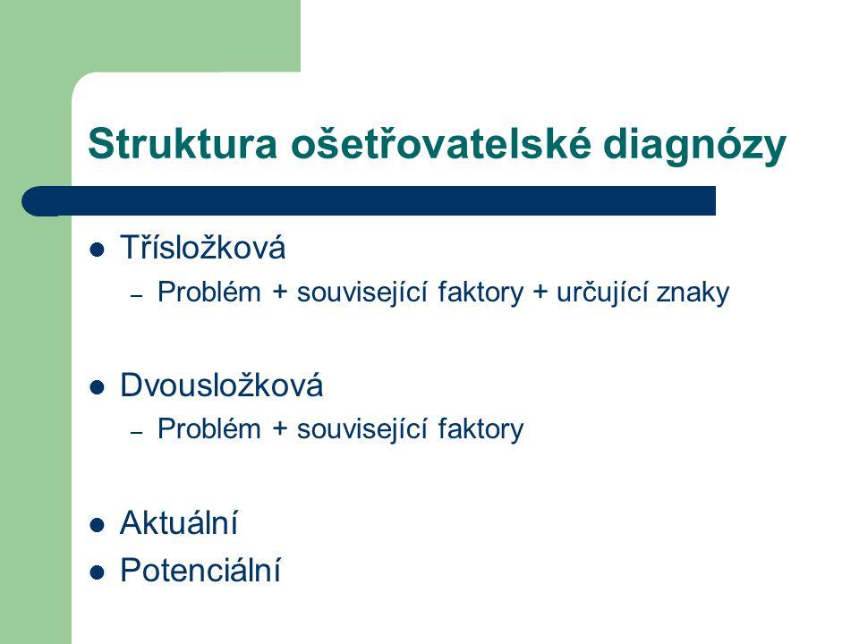 Struktura ošetřovatelské diagnózy