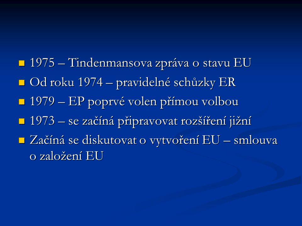 1975 – Tindenmansova zpráva o stavu EU