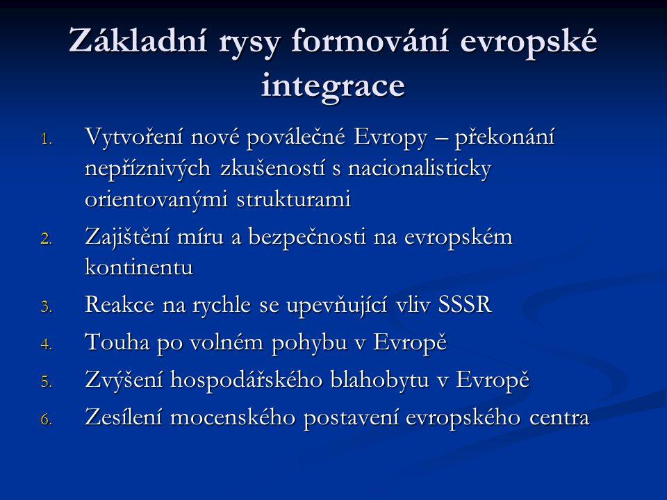 Základní rysy formování evropské integrace
