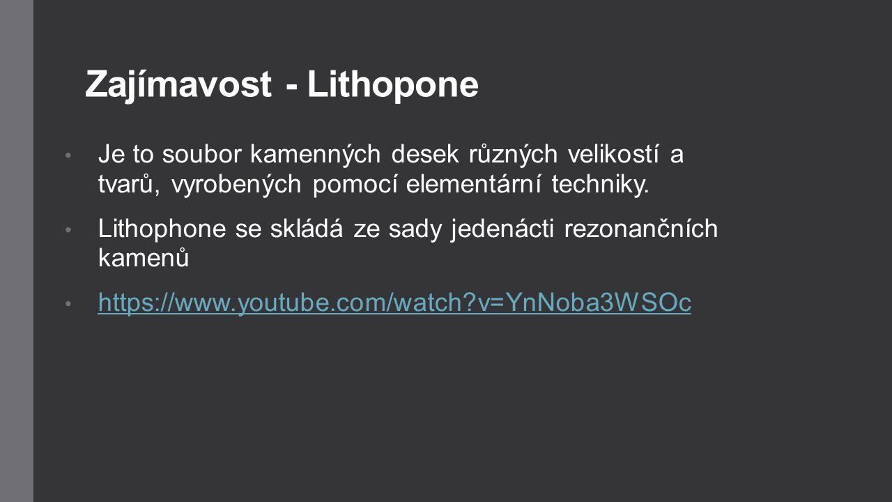 Zajímavost - Lithopone