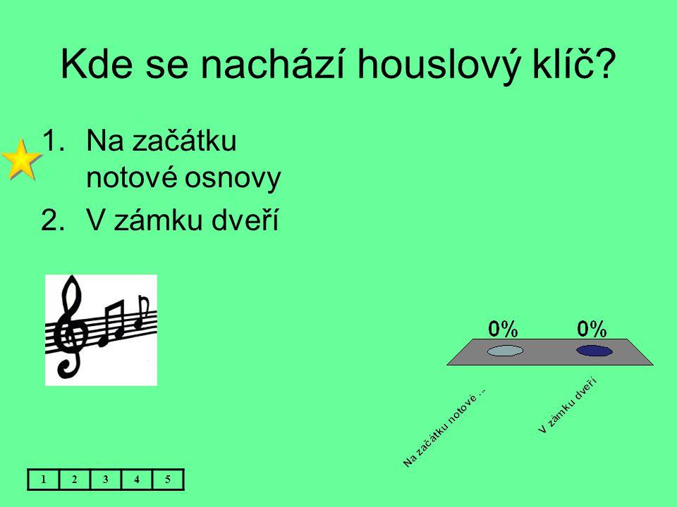 Kde se nachází houslový klíč