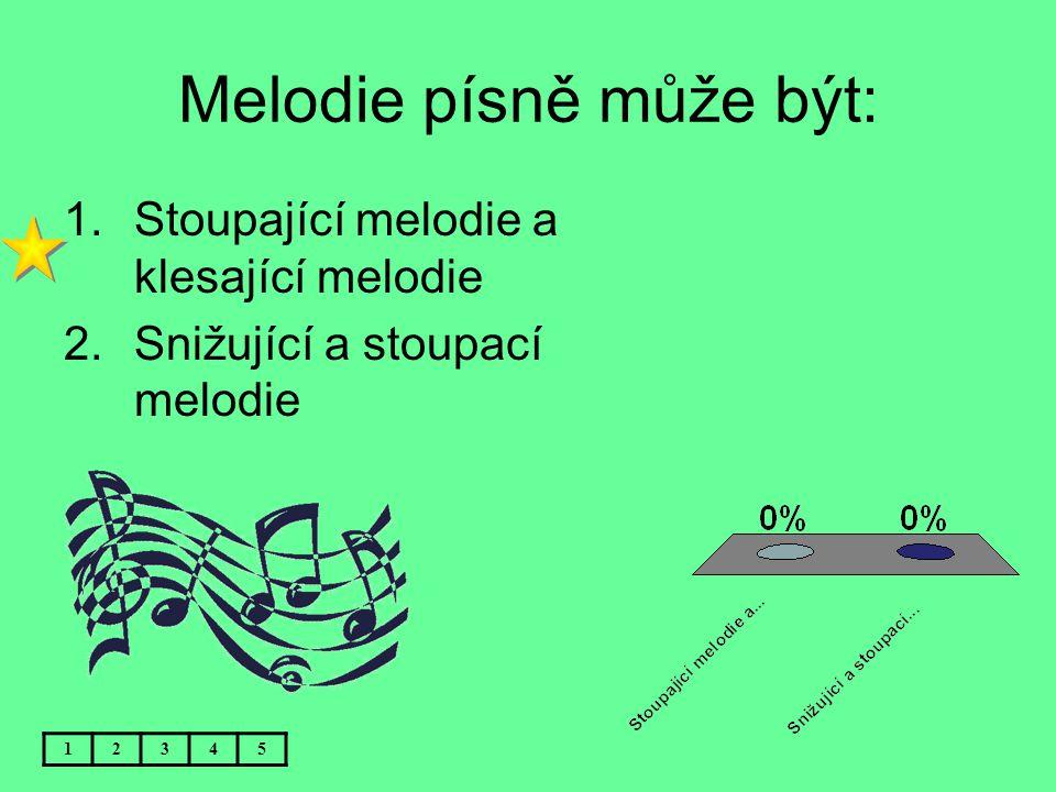 Melodie písně může být: