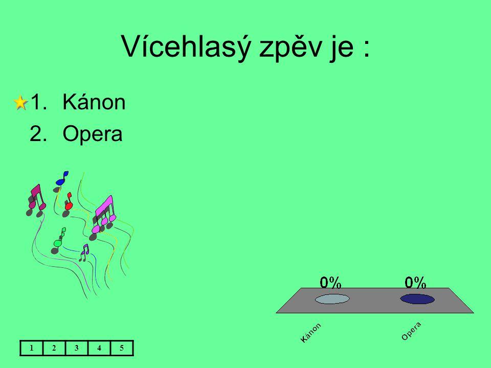 Vícehlasý zpěv je : Kánon Opera 1 2 3 4 5