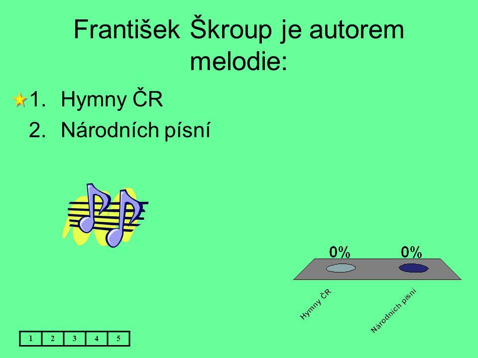 František Škroup je autorem melodie: