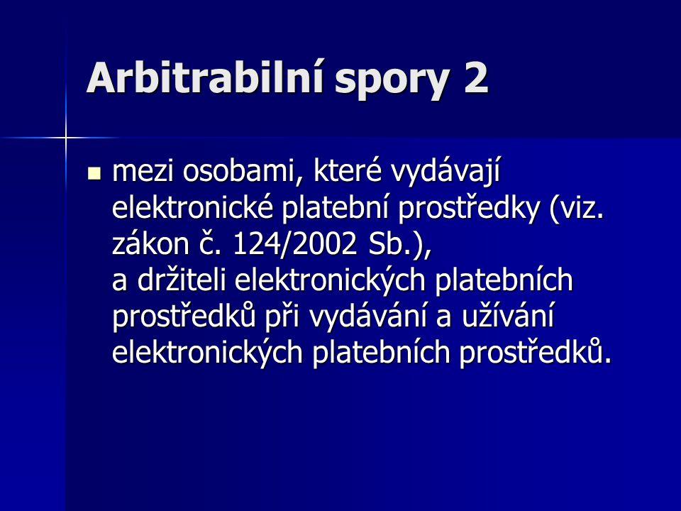 Arbitrabilní spory 2