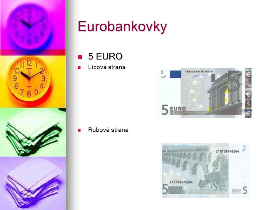 Eurobankovky 5 EURO Lícová strana Rubová strana