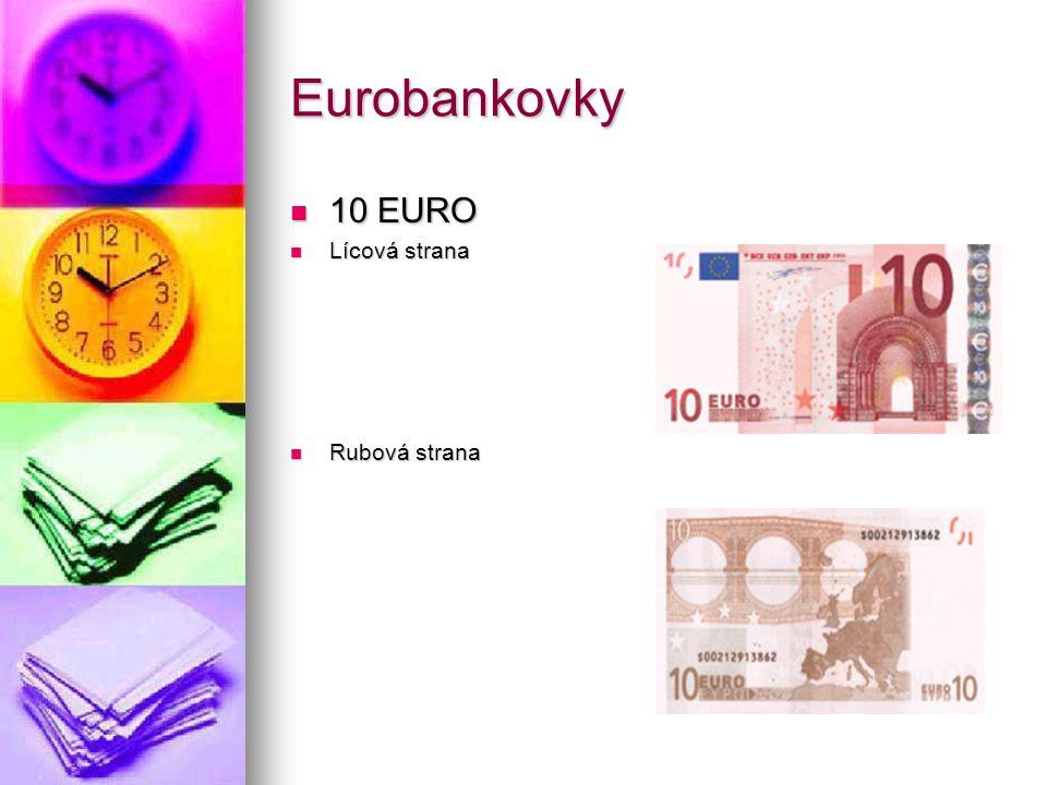Eurobankovky 10 EURO Lícová strana Rubová strana