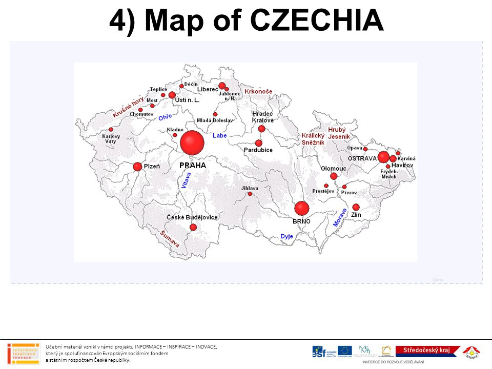 4) Map of CZECHIA