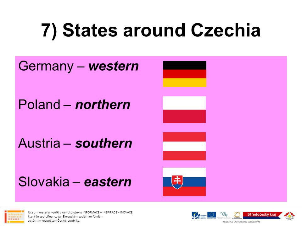 7) States around Czechia