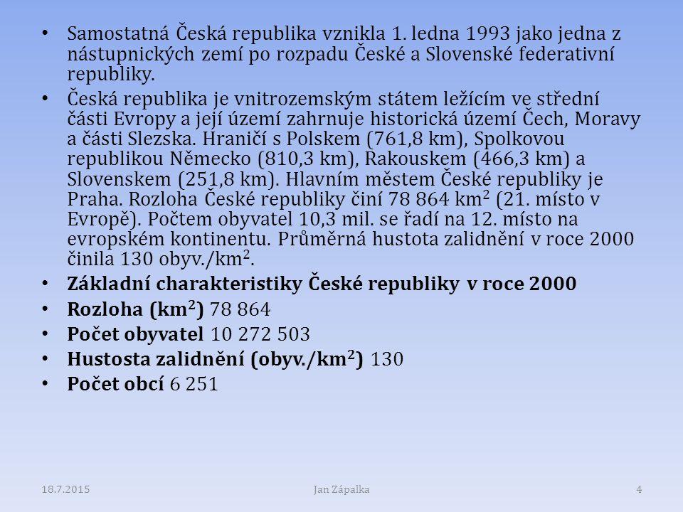 Základní charakteristiky České republiky v roce 2000