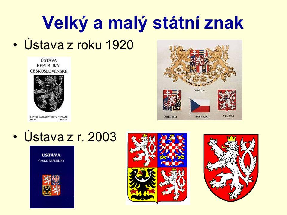 Velký a malý státní znak