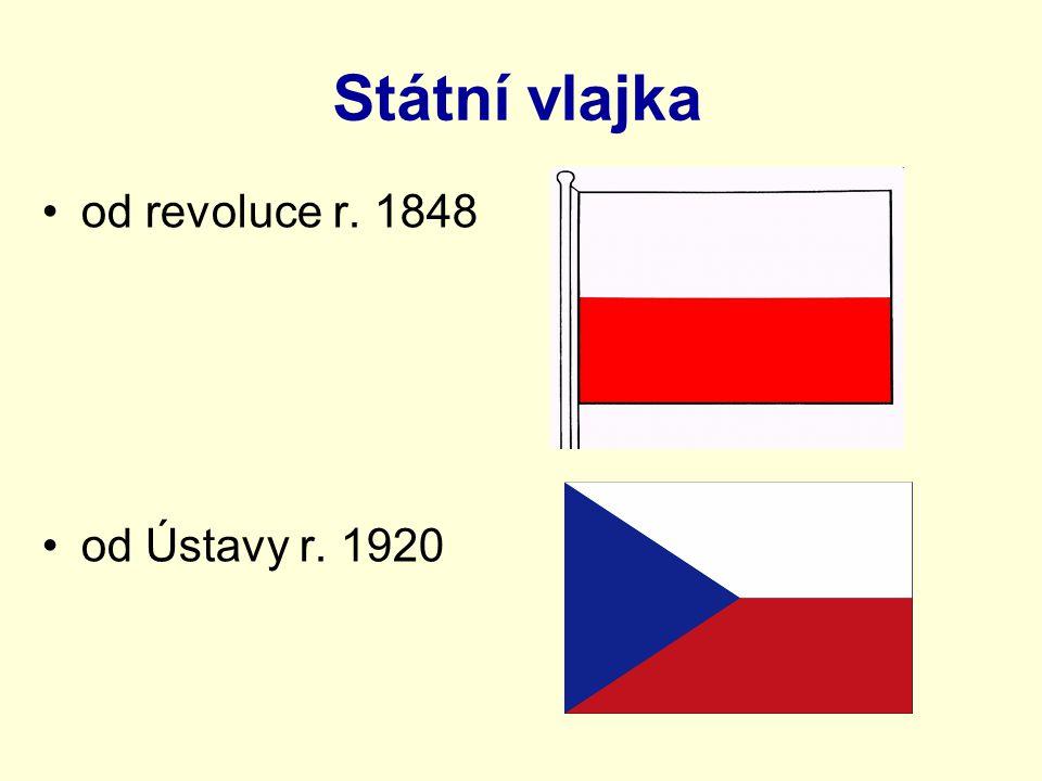 Státní vlajka od revoluce r. 1848 od Ústavy r. 1920