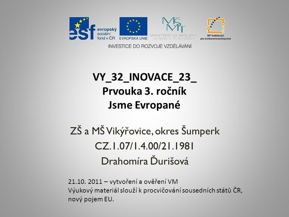 VY_32_INOVACE_23_ Prvouka 3. ročník Jsme Evropané