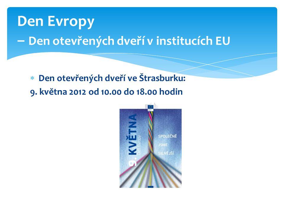 Den Evropy – Den otevřených dveří v institucích EU