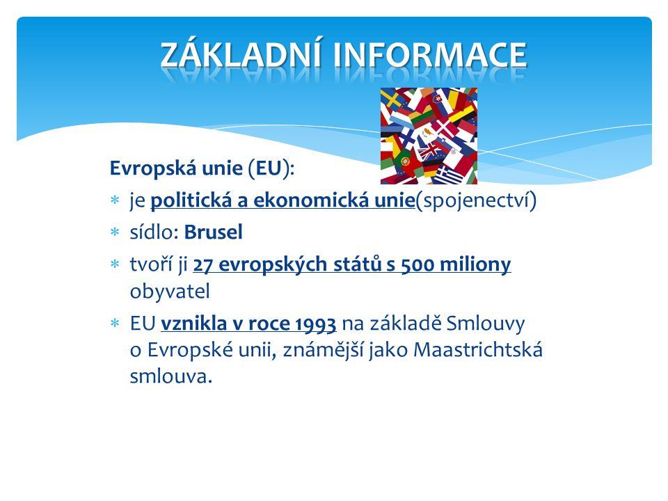 ZÁKLADNÍ INFORMACE Evropská unie (EU):