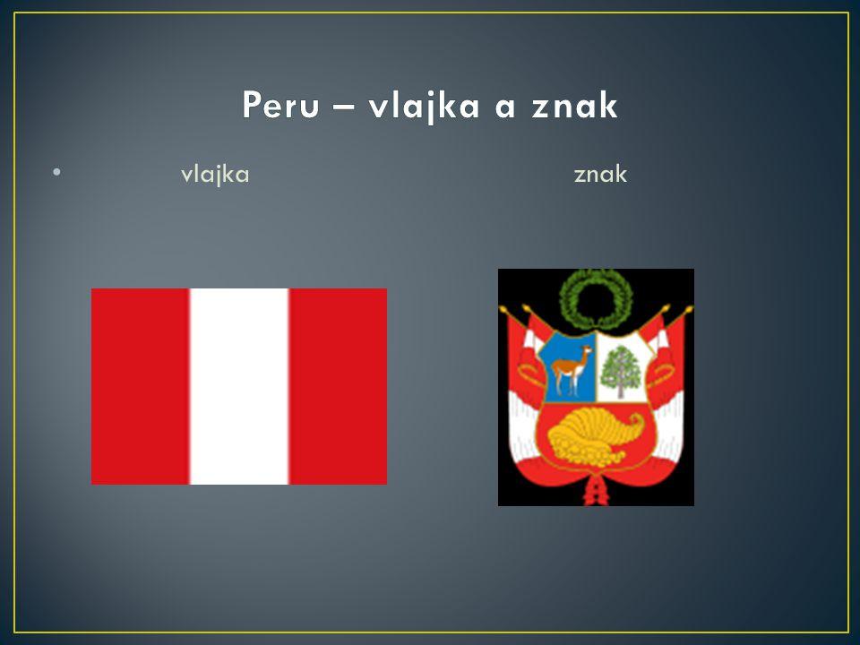 Peru – vlajka a znak vlajka znak